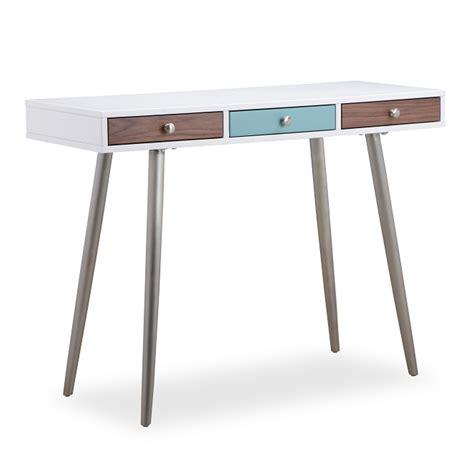 white console desk rimini matt white painted console desk redtree furniture