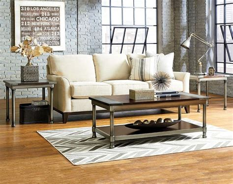 hudson 3 piece table set modern living room columbus