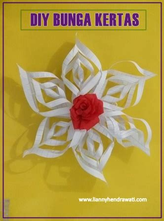 cara membuat bunga dari kertas folio diy bunga kertas sederhana lianny hendrawati food