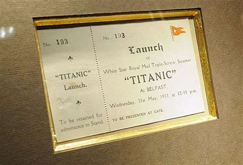titanic boat tickets original titanic launch ticket could sell for up to