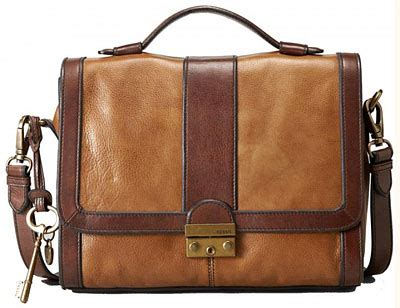 Fossil Mimi Satchel Brown Multi fossil handbags reviews style guru fashion glitz