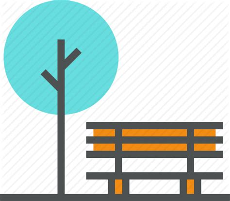 park bench icon bench city forest nature outdoor park recreation
