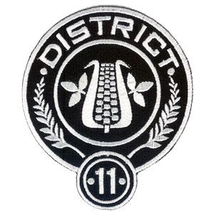 Hunger District 11 hunger district 11 embroidered 4 quot patch scifi geeks