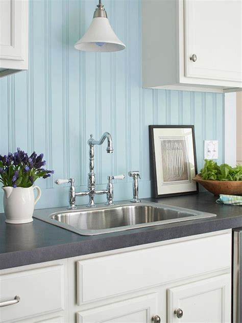light blue kitchen backsplash 25 beadboard kitchen backsplashes to add a cozy touch