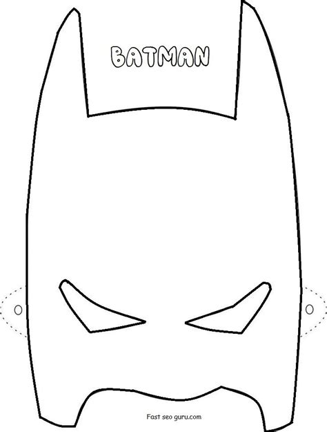 batman template batman mask printable template the letter sle