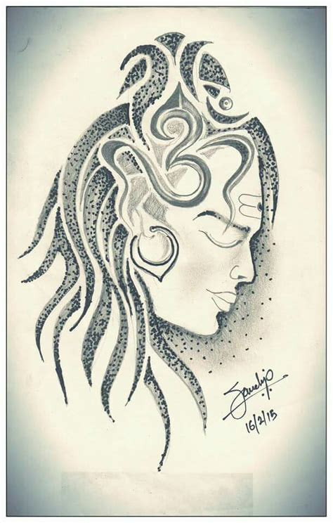 tattoo designs of lord krishna shiva drawing by sandip uttam shiva