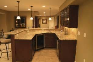 Finished Basement Bar Ideas Basement Bar Ideas Bar With Granite Counter Mosaic Tile Back Splash In Basement