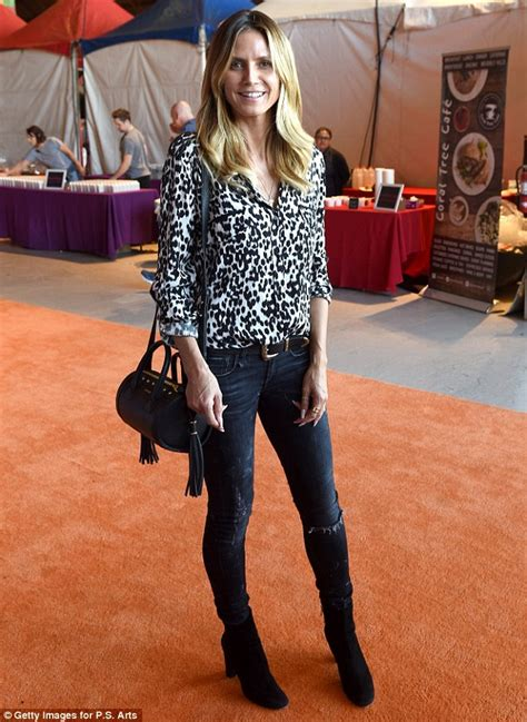 Heidi Gets A by Heidi Klum Gets With Leopard Print At A Studded