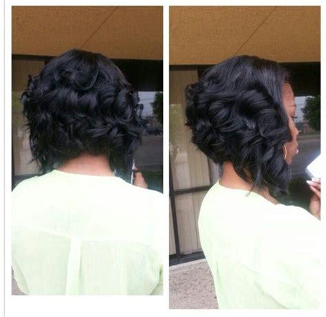 how to cut weave in bob bob cut natural hair silk press curls pinterest
