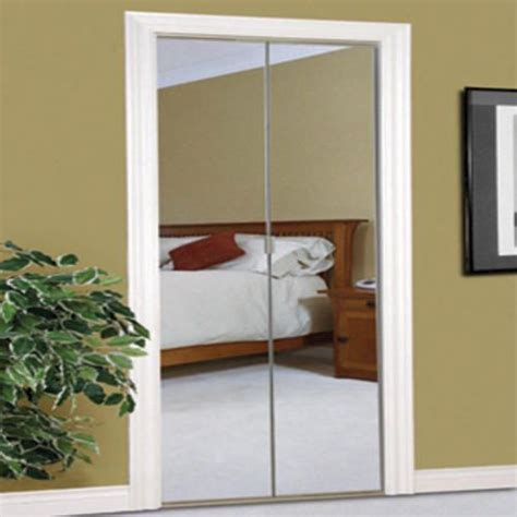 Bifold Closet Doors Menards Slimfold 24 Quot X 80 Quot Frameless Steel Bifold Mirror Door With