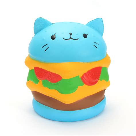 Animal Burger Squishy Rising With Packaging squishy cat hamburger burger 10cm rising with