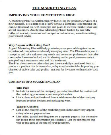 7 Sle Marketing Plan Template Word Sle Templates Local Store Marketing Plan Template