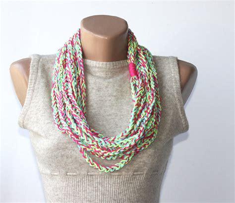 summer infinity scarf crochet pattern crochet summer scarf multicolor vegan scarf neon pink