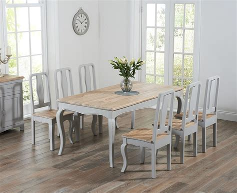 Chateau French Antique Grey Amp Wood Dining Table With Eight
