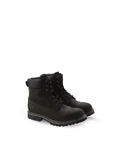 armani boots for armani combat boots in black for lyst