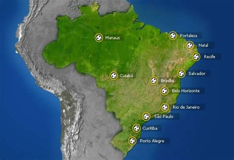 world cup host cities map host cities of fifa world cup 2014 brazil brasil