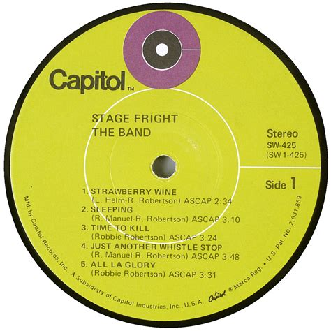 vinyl format cd the band stage fright us 1st pressing rl vinyl rip in