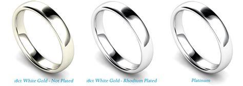 white gold or platinum