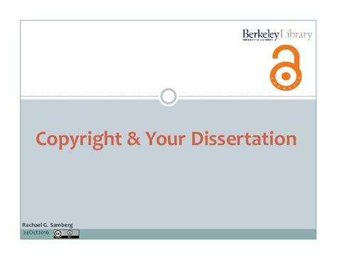 copyright dissertation 10 24 16 copyright publishing your dissertation