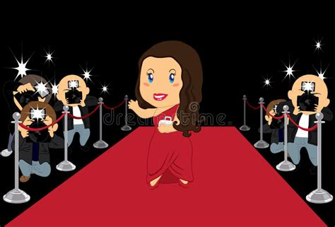 the gallery for gt hollywood cartoon hollywood actress stock vector illustration of movie