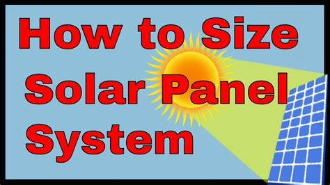 how to fit a solar panel how to size a solar panel system solar power calculation formula how many solar panels do i