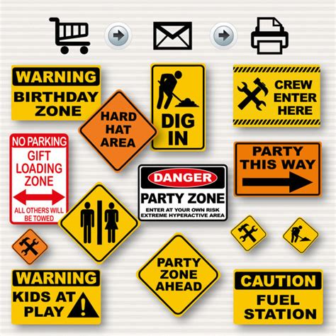 printable retirement road signs construction birthday party signs party signs construction