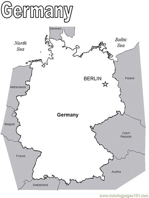 free map of germany coloring pages map2eurpo countries gt germany free
