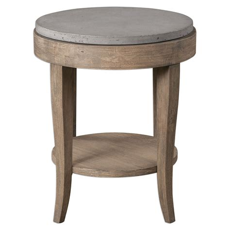 brown accent table uttermost deka brown round accent table on sale