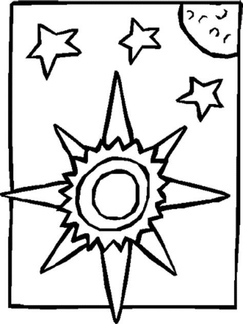 imagenes de luna sol y estrellas para colorear el sol dibujos para colorear