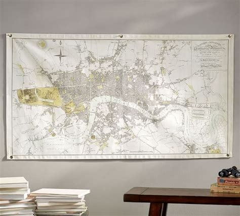 london home decor london map canvas wall art pottery barn