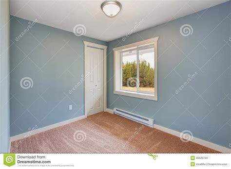 empty bedroom wall ideas small light blue bedroom in empty house stock photo