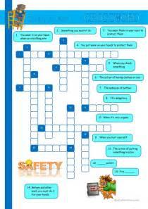 safety at work crossword worksheet free esl printable
