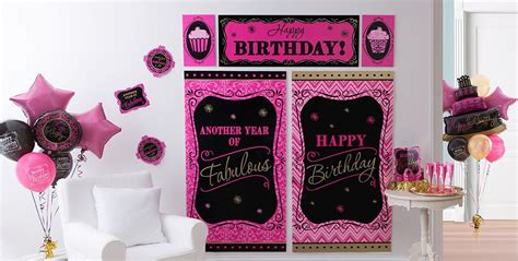 Damask Decorations by Damask Birthday Supplies Pink Black
