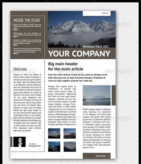 newsletter design template 35 effective and creative email newsletter designs