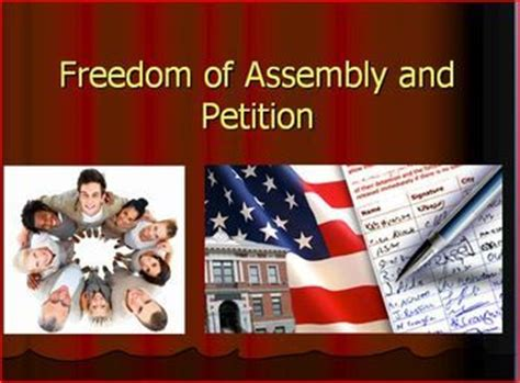 Freedom To Assemble Is Outlined In Which Amendment by Freedom Of Assembly And Petition 1st Amendment Lecture Activity Ci