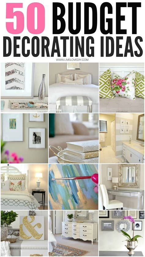 diy home decorating ideas on a budget 50 amazing budget decorating tips everyone should know i