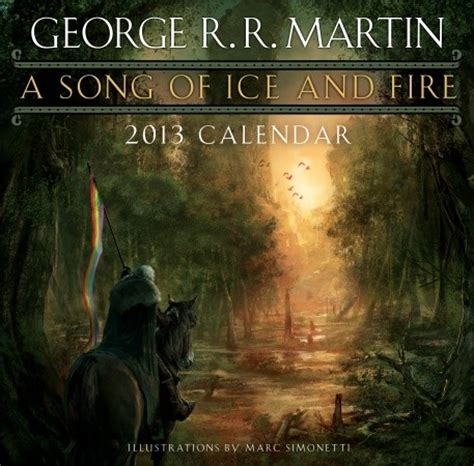 song of ice and fire 2012 calendar andre poll do you use fantasy calendars unbound worlds