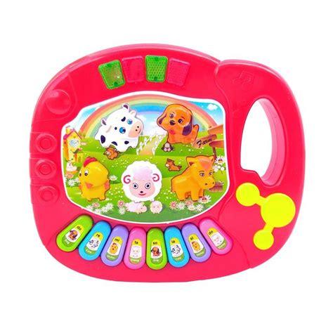 Mainan Piano Anak Animal World Musical Piano jual 5031b animal piano mainan anak harga kualitas terjamin