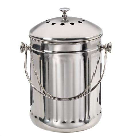 Compost Canister Kitchen Stainless Steel Compost Pail The Container Store