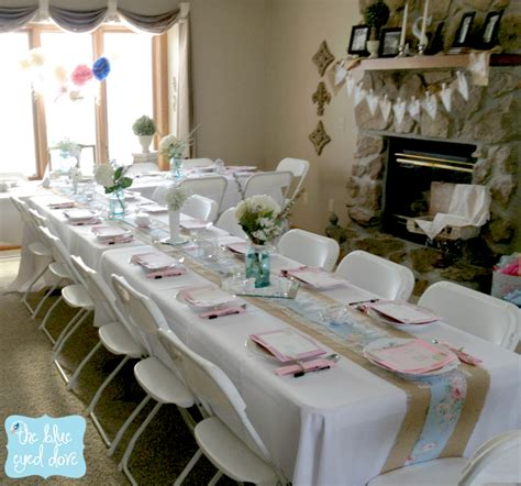 bridal shower table decorations with jars a shabby chic bridal shower part 1 the blue eyed dove
