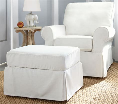 White Nursery Glider And Ottoman Thenurseries Pottery Barn Glider And Ottoman