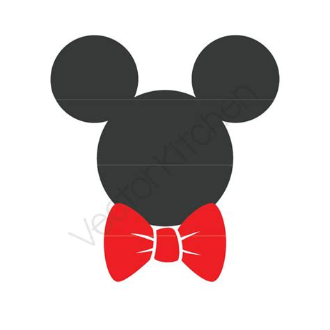 mickey noeud papillon inspir 233 coupe mod 232 le svg eps