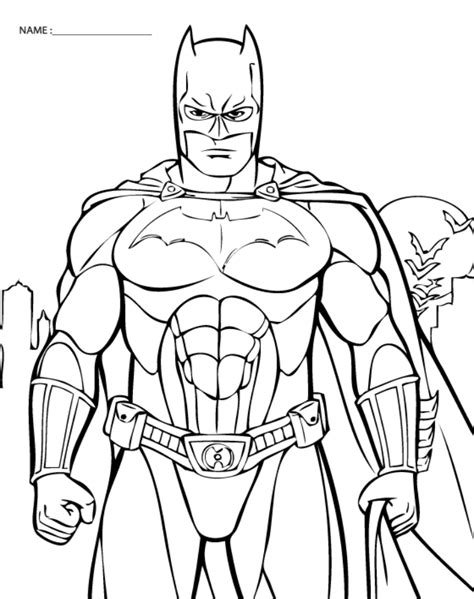 Batman Printable Coloring Pages batman color pages az coloring pages