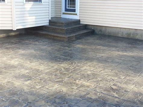 grey patterned concrete gray sted concrete ashlar slate sted concrete