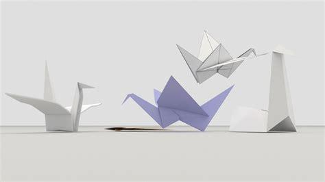 3d Origami Models - origami birds 3d model fbx cgtrader