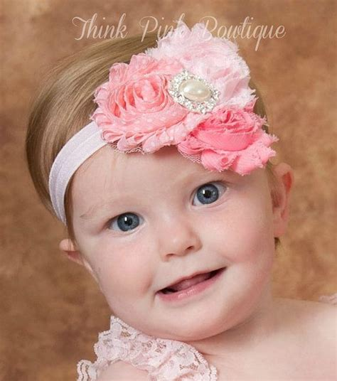 coral ivory trio shabby chic headband think pink bows 529 best faixas de cabelo images on hair bows