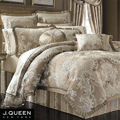bedding queen celeste damask comforter bedding by j queen new york