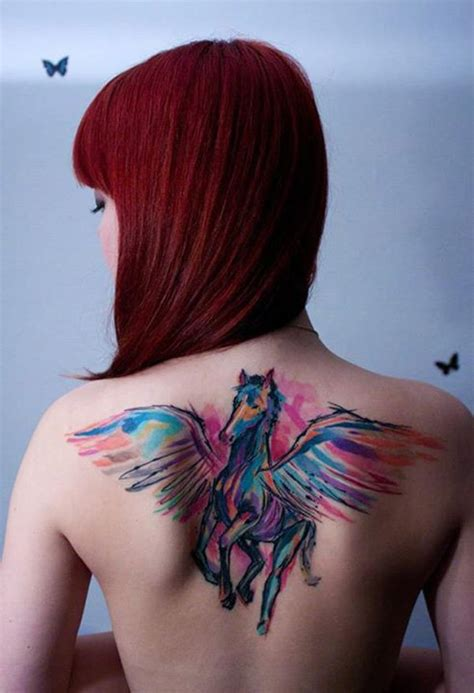 horse tattoo inspiration 21 beautiful exles of watercolor tattoos dandelion guff