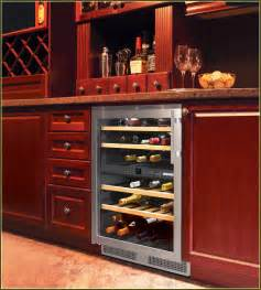 Bathroom Countertop Storage Cabinets by Wine Refrigerator Cabinet Built In Home Design Ideas