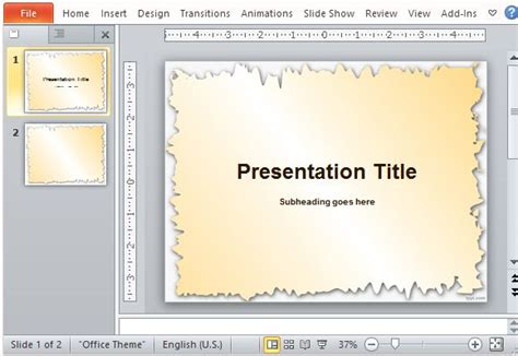 free picture frame templates for powerpoint